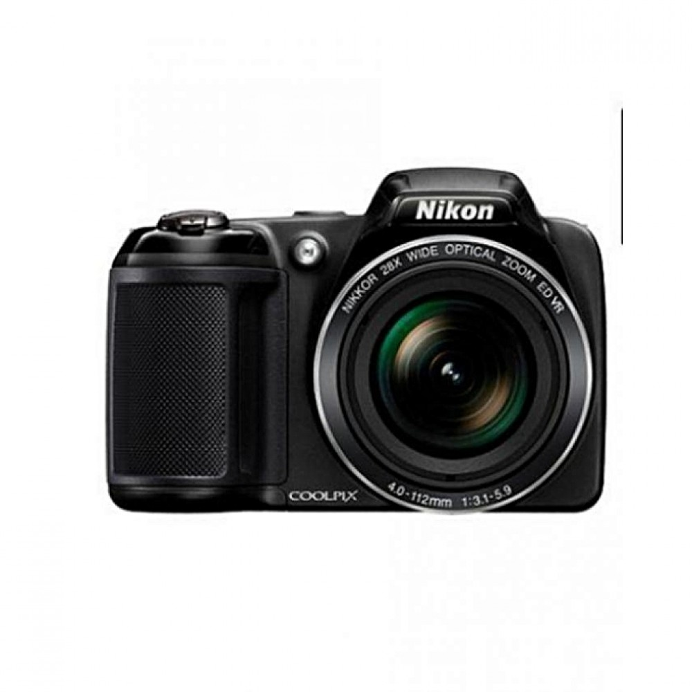 Nikon COOLPIX L340 20.2MP 28X Optical Zoom Compact Digital Camera - Black + Free 32GB SDHC Memory Card