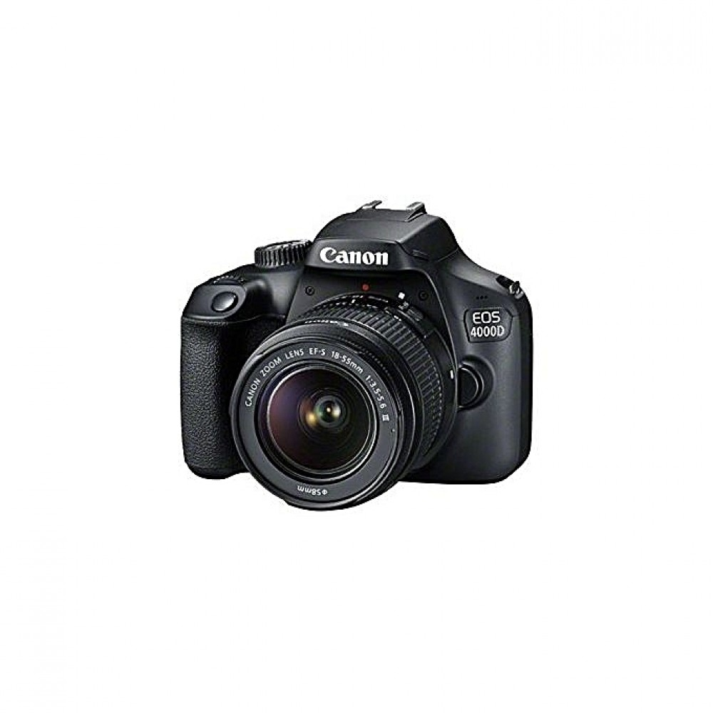 Canon EOS 4000D DSLR Camera With EF-S 18-55mm Lens - Black